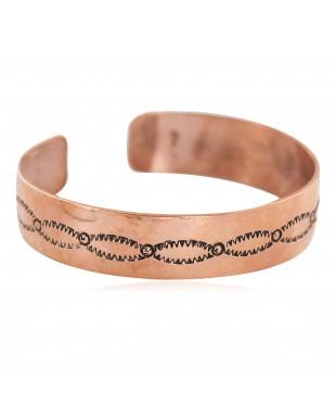 Certified Authentic Handmade Navajo Native American Pure Copper Bracelet 13154