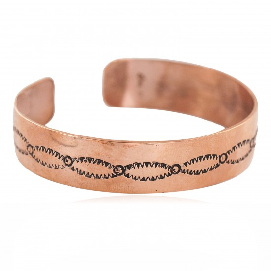 Certified Authentic Handmade Navajo Native American Pure Copper Bracelet 13154 All Products NB160423212524 13154 (by LomaSiiva)