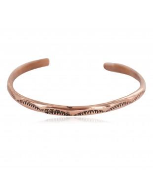 Certified Authentic Handmade Navajo Native American Pure Copper Bracelet 13160