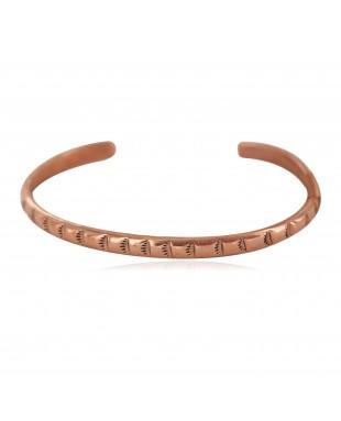 Certified Authentic Handmade Navajo Pure Copper Native American Baby Bracelet 13146-10