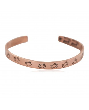 Certified Authentic Horny Toad Handmade Navajo Native American Pure Copper Bracelet 24492-2