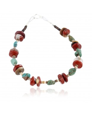 Certified Authentic Navajo .925 SILVER Natural Turquoise Jasper Native American Bracelet 371007770355
