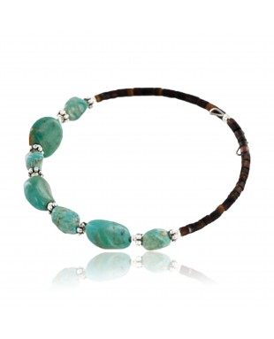 Certified Authentic Navajo and Turquoise Native American WRAP Bracelet 371053390629