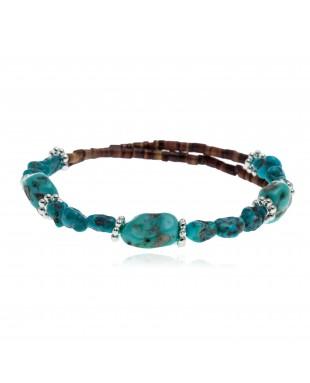 Certified Authentic Navajo Navajo Turquoise Native American Adjustable Wrap Bracelet 12633