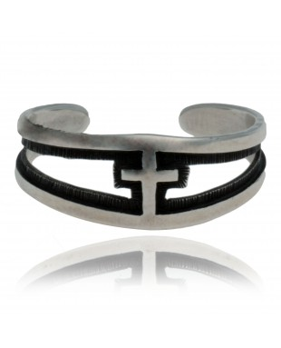Cross .925 Sterling Silver Certified Authentic Hopi Native American Handmade Toe Ring 13234-1
