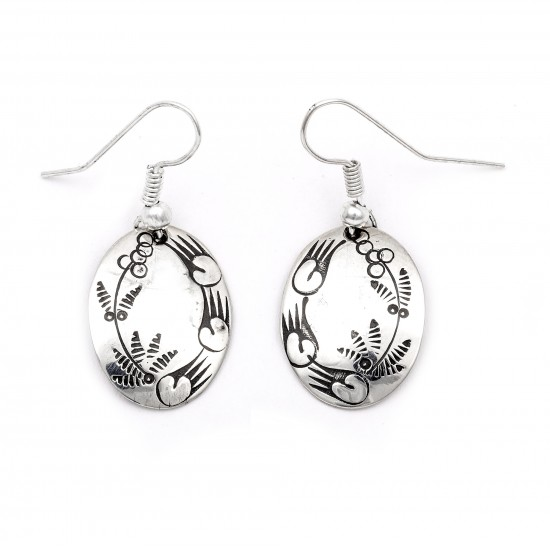 Flower Bear Paw .925 Starling Silver Certified Authentic Handmade Navajo Native American Earrings  27260-7 All Products NB180607034140 27260-7 (by LomaSiiva)