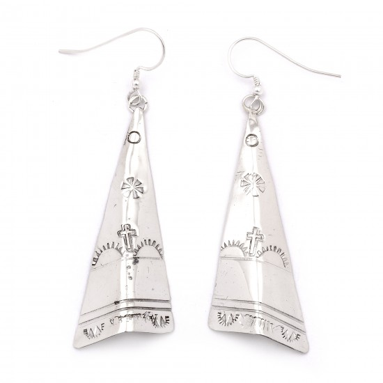 Flower Cross Sun Mountain .925 Starling Silver Certified Authentic Handmade Navajo Native American Earrings  27265-3 All Products NB180607034130 27265-3 (by LomaSiiva)
