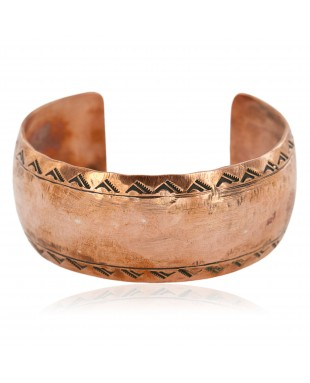 Hammered Mountain Handmade Certified Authentic Navajo Pure Copper Native American Bracelet 12868-5