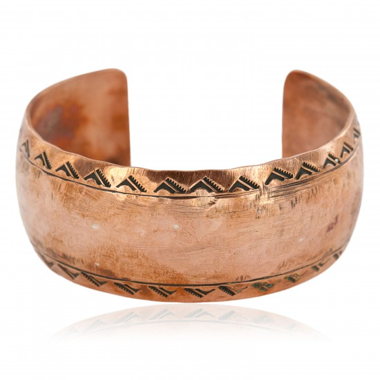 Hammered Mountain Handmade Certified Authentic Navajo Pure Copper Native American Bracelet 12868-5 All Products NB151031014443 12868-5 (by LomaSiiva)
