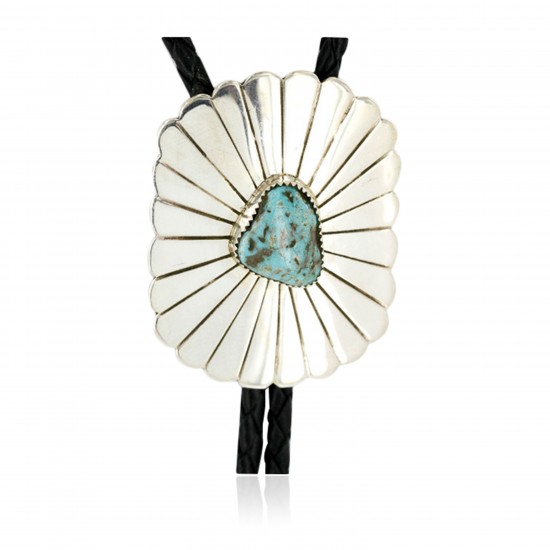 Handmade Certified Authentic Navajo .925 Sterling Silver Natural Turquoise Native American Bolo Tie  1190 All Products 390968828080 1190 (by LomaSiiva)