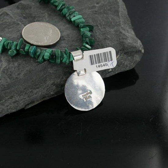 Handmade Certified Authentic Navajo .925 Sterling Silver Natural Turquoise Native American Necklace 370908751269 All Products 370908751269 370908751269 (by LomaSiiva)