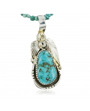 Handmade Certified Authentic Navajo .925 Sterling Silver Natural TURQUOISE Native American Necklace 370911832684