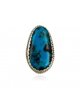 Handmade Certified Authentic Navajo .925 Sterling Silver Natural Turquoise Native American Ring  16929