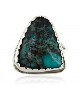 Handmade Certified Authentic Navajo .925 Sterling Silver Natural Turquoise Native American Ring  16936