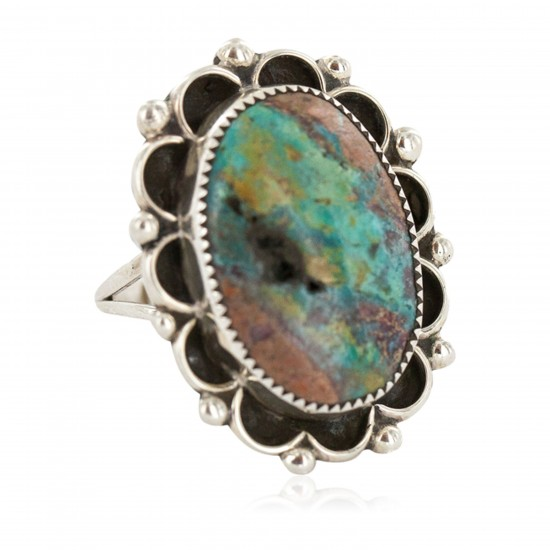Handmade Certified Authentic Navajo .925 Sterling Silver Natural Turquoise Native American Ring 18259-1 All Products NB160423220147 18259-1 (by LomaSiiva)