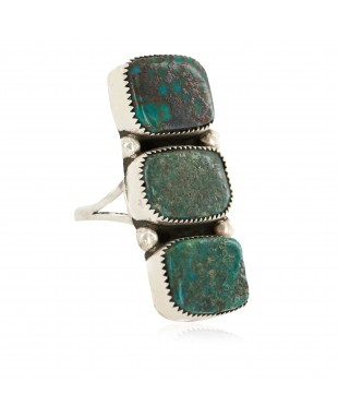 Handmade Certified Authentic Navajo .925 Sterling Silver Natural Turquoise Native American Ring 18292