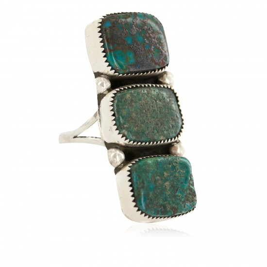 Handmade Certified Authentic Navajo .925 Sterling Silver Natural Turquoise Native American Ring 18292 All Products NB160514194349 18292 (by LomaSiiva)