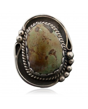 Handmade Certified Authentic Navajo .925 Sterling Silver Natural Turquoise Native American Ring  390676453037