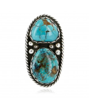 Handmade Certified Authentic Navajo .925 Sterling Silver Turquoise Native American Ring  16842
