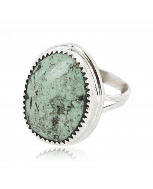 Handmade Certified Authentic Navajo .925 Sterling Silver Turquoise Native American Ring  371013455066