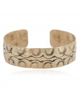 Handmade Certified Authentic Navajo Native American Brass Bracelet 13140-2
