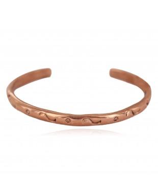 Handmade Certified Authentic Navajo Pure Copper Native American Baby Bracelet 13146-8