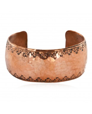 Handmade Hammered Certified Authentic Navajo Pure Copper Native American Bracelet 12795