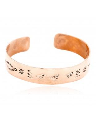Handmade Horse Certified Authentic Navajo Pure Copper Native American Bracelet 12773-2