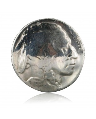 Handmade Indian Head Real Old Buffalo Coin Certified Authentic Navajo .925 Sterling Silver Native American Ring  390718937226