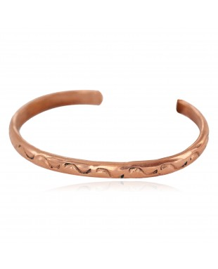 Handmade Navajo Certified Authentic Pure Copper Native American Baby Bracelet 13146-1