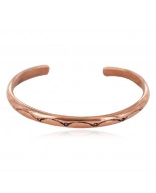 Handmade Navajo Certified Authentic Pure Copper Native American Baby Bracelet 13146-2