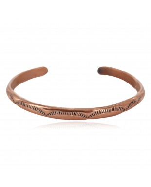 Handmade Navajo Certified Authentic Pure Copper Native American Baby Bracelet 13146-7