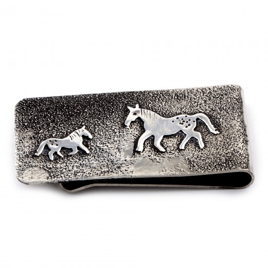 Horse .925 Sterling Silver Ray Begay Certified Authentic Handmade Navajo Native American Money Clip  13194-16 All Products NB180527015422 13194-16 (by LomaSiiva)