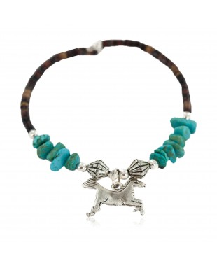 Horse Certified Authentic Heishi Navajo Native American Adjustable Wrap Baby Bracelet 13158