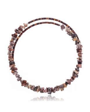 Jasper Certified Authentic Navajo Native American Adjustable Choker Wrap Necklace 25564