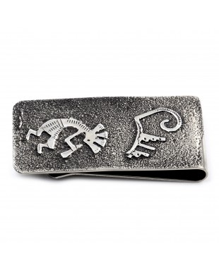 Kokopelli .925 Sterling Silver Ray Begay Certified Authentic Handmade Navajo Native American Money Clip  13194-21