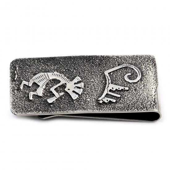 Kokopelli .925 Sterling Silver Ray Begay Certified Authentic Handmade Navajo Native American Money Clip  13194-21 All Products NB180527021603 13194-21 (by LomaSiiva)