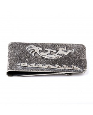 Kokopelli .925 Sterling Silver Ray Begay Certified Authentic Handmade Navajo Native American Money Clip  13194-8