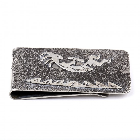 Kokopelli .925 Sterling Silver Ray Begay Certified Authentic Handmade Navajo Native American Money Clip  13194-8 All Products NB180518230029 13194-8 (by LomaSiiva)