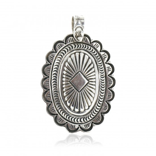 Large Collectable Handmade Certified Authentic Navajo .925 Sterling Silver Native American Pendant 15027 Pendants 371208514782 15027 (by LomaSiiva)