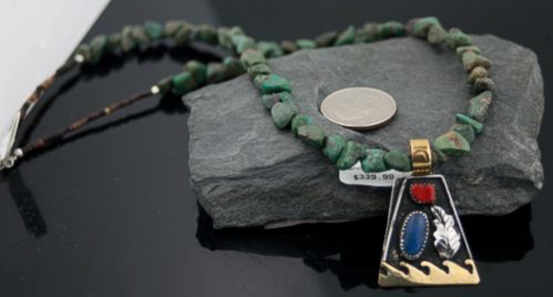 Large Handmade Leaf Certified Authentic Navajo .925 Sterling Silver 12kt Gold Filled Lapis and Coral Native American Necklace 370799109338 All Products 370799109338 370799109338 (by LomaSiiva)