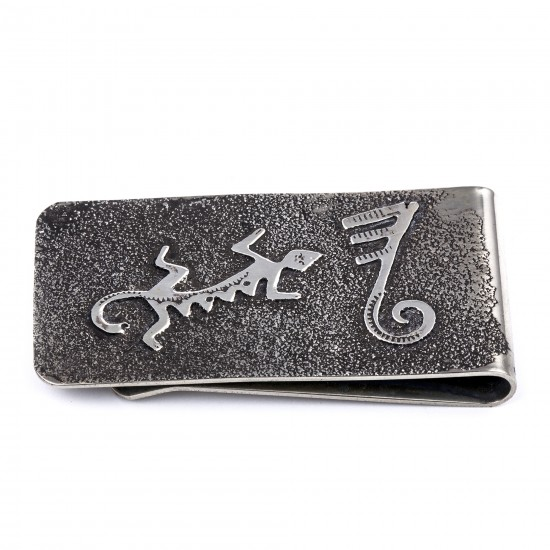 Lizard .925 Sterling Silver Ray Begay Certified Authentic Handmade Navajo Native American Money Clip  13194-14 All Products NB180518223713 13194-14 (by LomaSiiva)