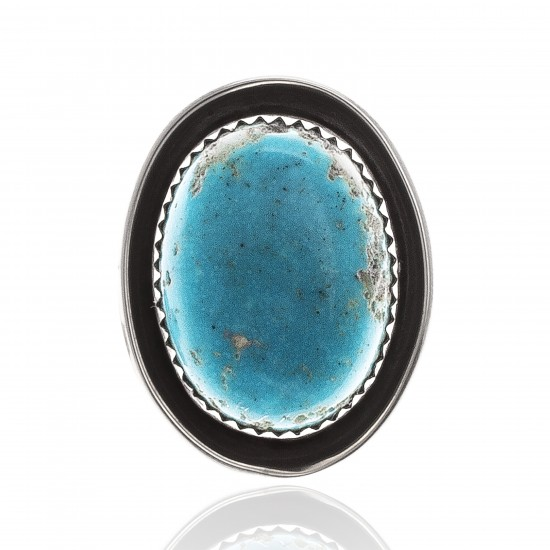 Natural Turquoise .925 Sterling Silver Certified Authentic Navajo Native American Handmade Concho Button 24560 Concho NB371016874342 24560 (by LomaSiiva)