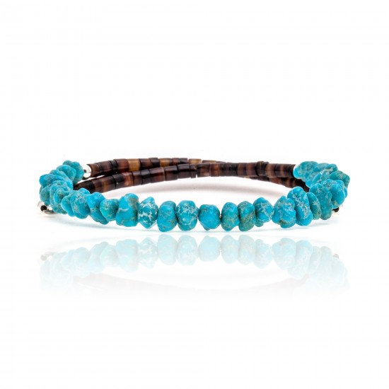 Natural Turquoise Certified Authentic Navajo Native American Adjustable Wrap Bracelet 22130 All Products 371183569148 22130 (by LomaSiiva)