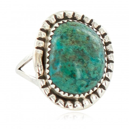 Navajo .925 Sterling Silver Certified Authentic Handmade Turquoise Native American Ring Size 9 18202-4 All Products NB160306010625 18202-4 (by LomaSiiva)