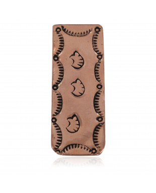 Navajo Bear Certified Authentic Handmade Pure Copper Native American Nickel Money Clip 11267-11