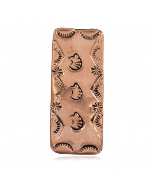 Navajo Certified Authentic Handmade Bear Sun Pure Copper Native American Nickel Money Clip 11267-9