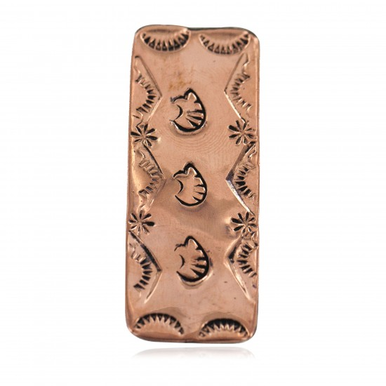 Navajo Certified Authentic Handmade Bear Sun Pure Copper Native American Nickel Money Clip 11267-9 All Products NB160313232153 11267-9 (by LomaSiiva)