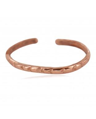 Navajo Certified Authentic Handmade Pure Copper Native American Baby Bracelet 13146-3