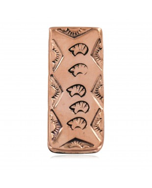 Navajo Certified Authentic Handmade Pure Copper Sun Bear Native American Nickel Money Clip 11267-6